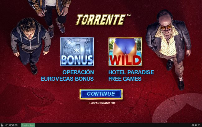 Play slots at Vernons: Vernons featuring the Video Slots Torrente with a maximum payout of $125,000