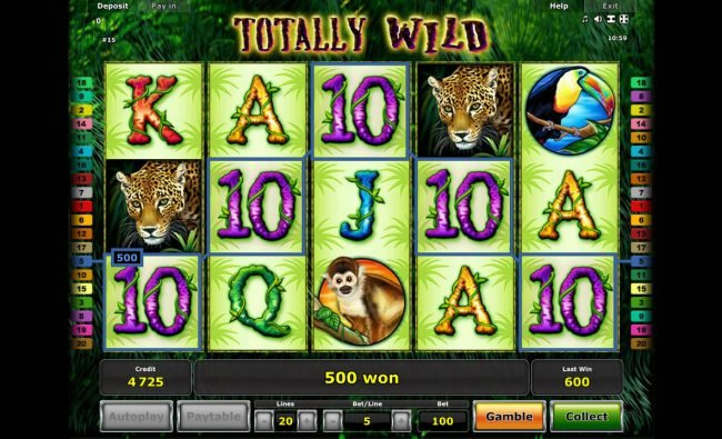 Winner Million featuring the Video Slots Totally Wild with a maximum payout of $10,000,000