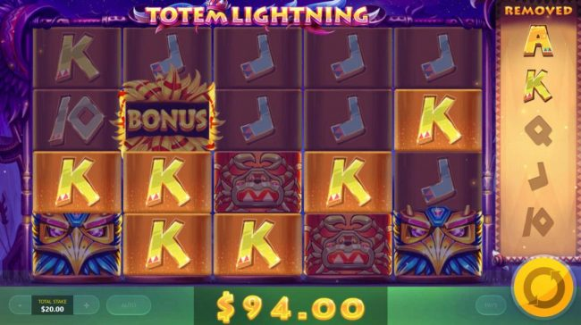 Play slots at Greenspin: Greenspin featuring the Video Slots Totem Lightning with a maximum payout of $12,500