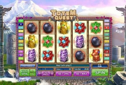 Play slots at 1BET: 1BET featuring the Video Slots Totem Quest with a maximum payout of $10,000
