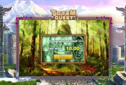 1BET featuring the Video Slots Totem Quest with a maximum payout of $10,000