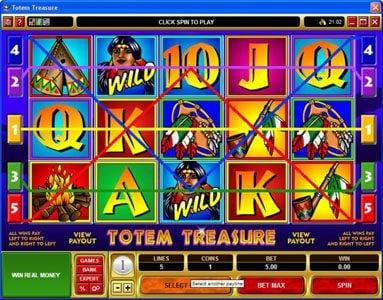 Golden Reef featuring the Video Slots Totem Treasure with a maximum payout of $60,000