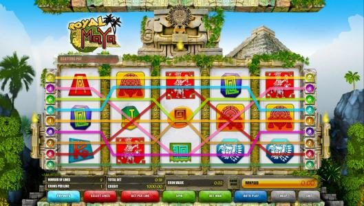 Long Harbour featuring the Video Slots Royal Maya with a maximum payout of 2500x