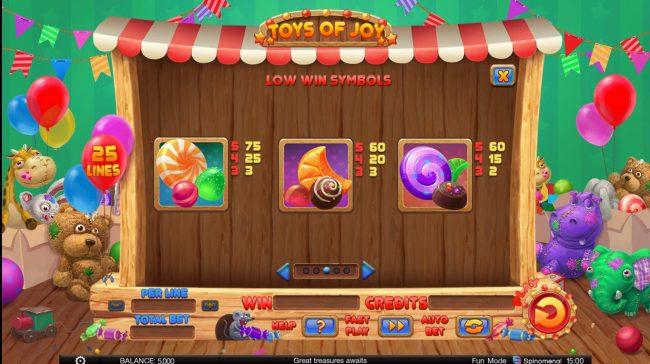 Toys of Joy :: Low Value Symbols