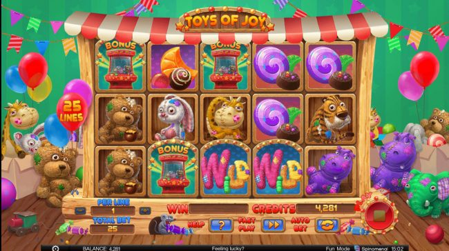 Toys of Joy :: Scatter win triggers the bonus feature