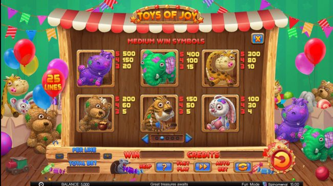 NordiCasino featuring the Video Slots Toys of Joy with a maximum payout of $125,000