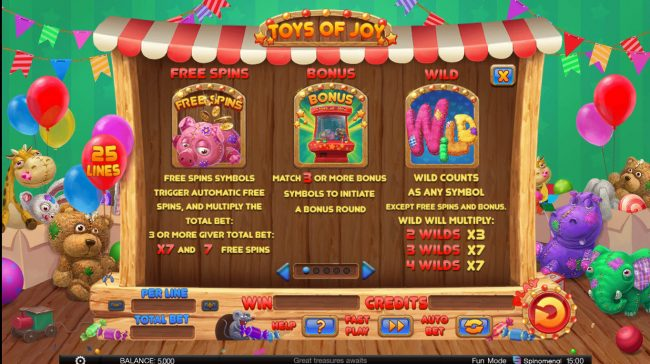 Play slots at CryptoWild: CryptoWild featuring the Video Slots Toys of Joy with a maximum payout of $125,000