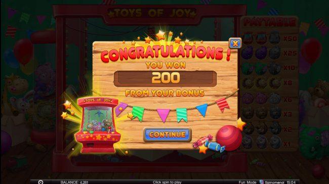 Toys of Joy :: Total Bonus Payout
