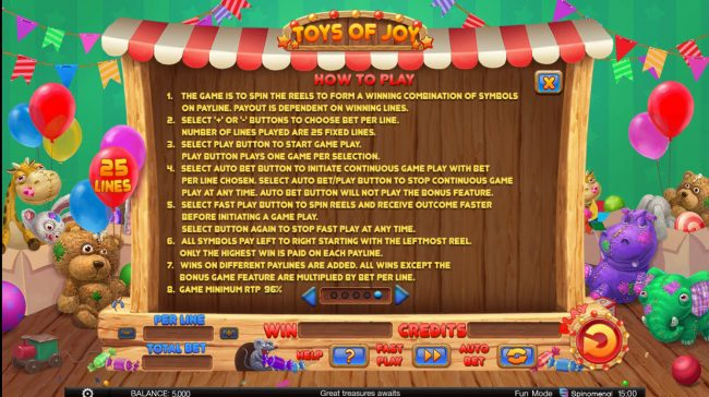 Toys of Joy :: General Game Rules