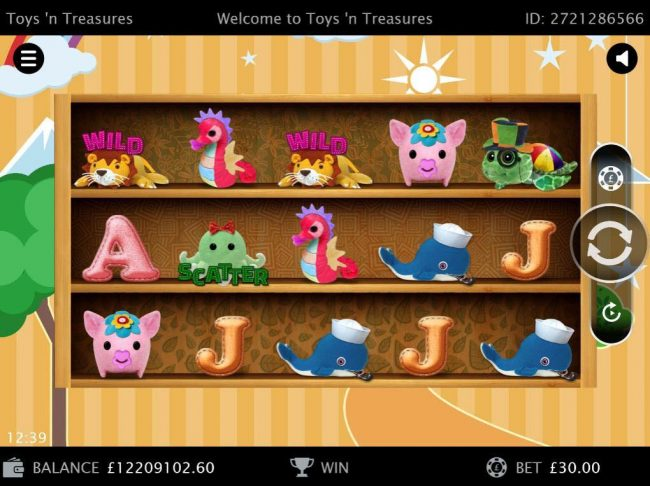 My Touch featuring the Video Slots Toys'n Treasures with a maximum payout of $150,000