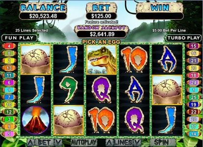 Cafe featuring the Video Slots T-Rex with a maximum payout of $250,000