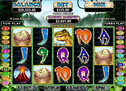Cherry Red featuring the Video Slots T-Rex with a maximum payout of $250,000