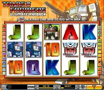 Play slots at Cheeky Riches: Cheeky Riches featuring the Video Slots Transformers - Ultimate Payback with a maximum payout of $250,000