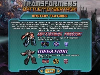 mystery features - optimus prime and megatron rules