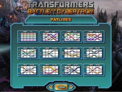 Party Casino featuring the Video Slots Transformers - Battle for Cybertron  with a maximum payout of $250,000