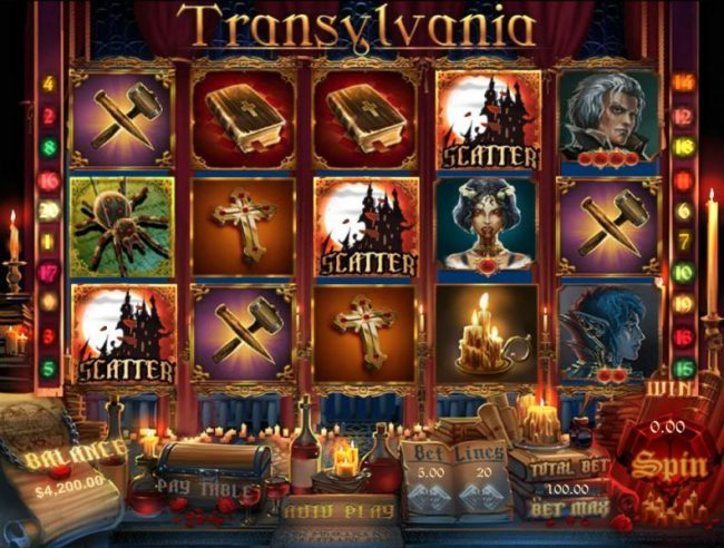 Three or more haunted house scatter symbols anywhere on the reels awards the free spins feature.