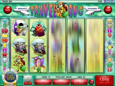 Buran featuring the Video Slots Travel Bug with a maximum payout of $12,500