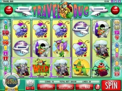 Superbet Palace featuring the Video Slots Travel Bug with a maximum payout of $12,500