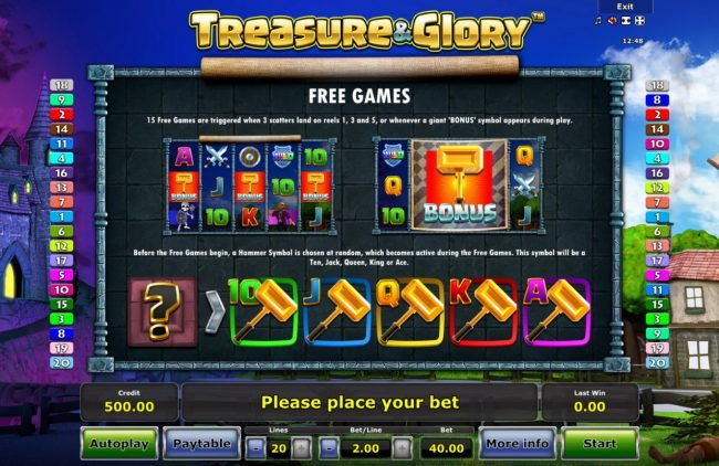 Play slots at AC Casino: AC Casino featuring the Video Slots Treasure & Glory with a maximum payout of $20,000