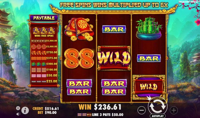 Play slots at Rich Casino: Rich Casino featuring the Video Slots Treasure Horse with a maximum payout of $90,000