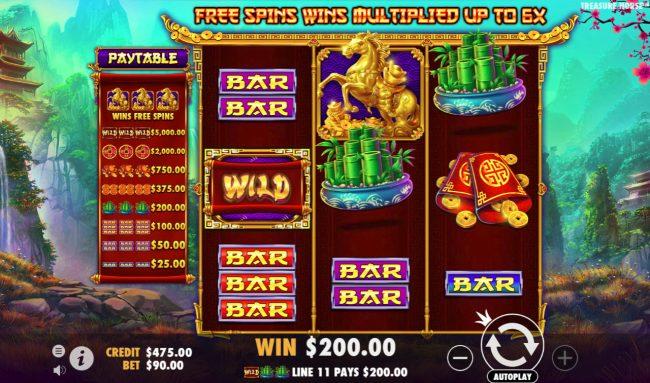 Treasure Horse :: Multiple winning paylines