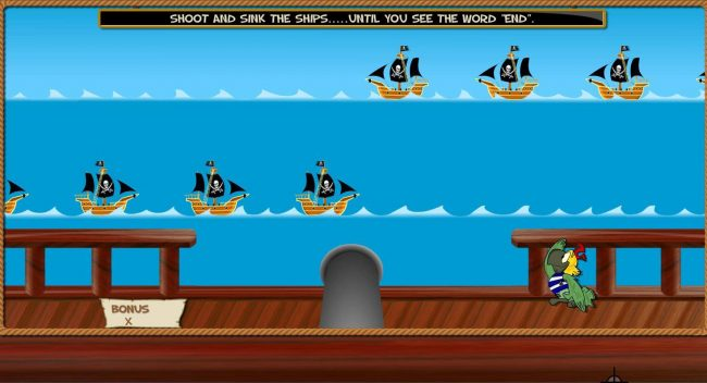 Shoot and sink ships...until you see the word End