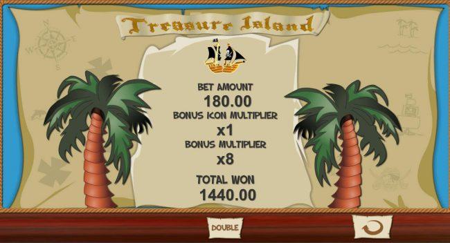 Total bonus game payout 1440.00
