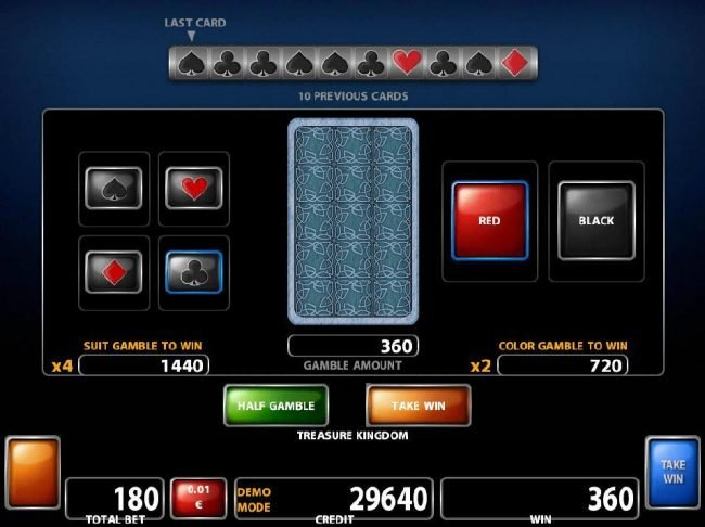 Powerspins featuring the Video Slots Treasure Kingdom with a maximum payout of $500,000