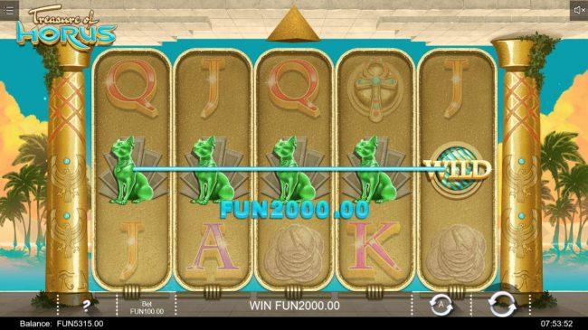 Treasure of Horus :: A winning Five of a Kind