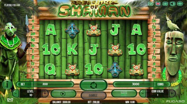 Play slots at Kingbit Casino: Kingbit Casino featuring the Video Slots Treasure of Shaman with a maximum payout of $141,750
