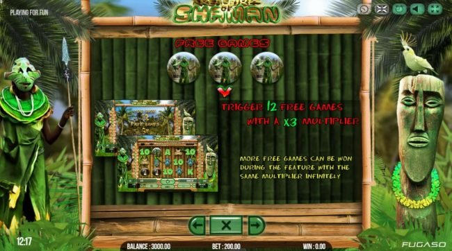 Magik Slots featuring the Video Slots Treasure of Shaman with a maximum payout of $141,750