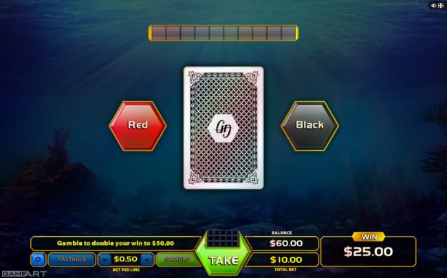 Crypto Wild featuring the Video Slots Treasure Reef with a maximum payout of $4,500