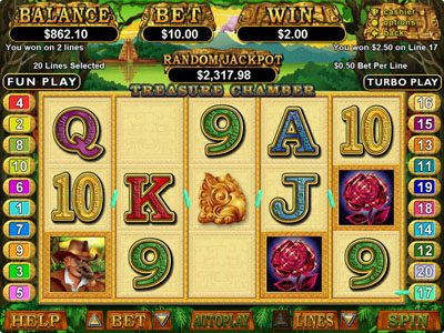 Intertops featuring the Video Slots Treasure Chamber with a maximum payout of $250,000