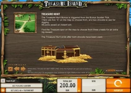 Betive featuring the Video Slots Treasure Island with a maximum payout of $2,000
