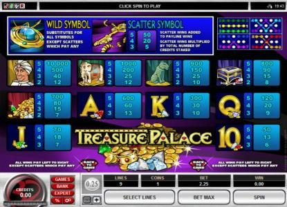 Play slots at Ruby Fortune: Ruby Fortune featuring the Video Slots Treasure Palace with a maximum payout of $20,000