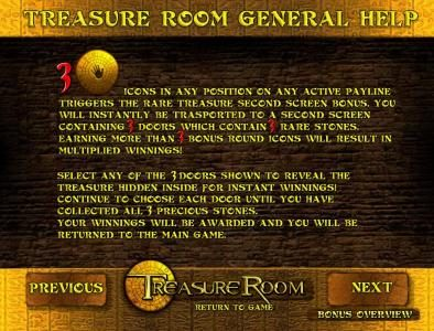 123 Vegas Win featuring the Video Slots Treasure Room with a maximum payout of $5,000