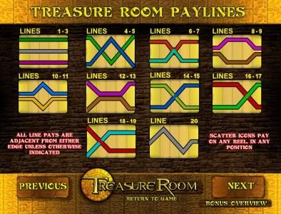 twenty payline diagrams