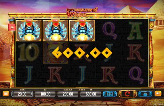 A winning three of a kind
