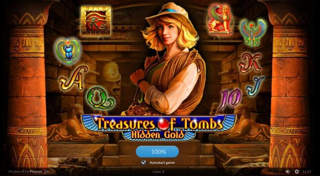 Africa Casino featuring the Video Slots Treasures of Tombs Hidden Gold with a maximum payout of $225,000