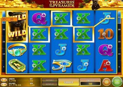 Treasures of the Pyramids :: Multiple winning paylines