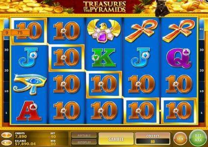 Treasures of the Pyramids :: A five of a kind triggers a Big Win!