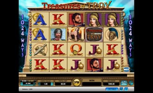 Play slots at Cheeky Riches: Cheeky Riches featuring the Video Slots Treasures of Troy with a maximum payout of $250,000
