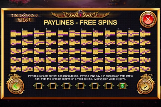 Tree of Gold :: Free Spins - Paylines 1-60