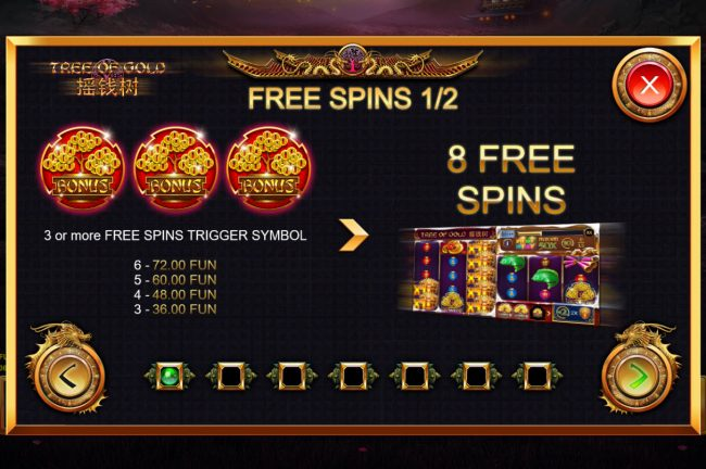 Tree of Gold :: Free Spins Rules