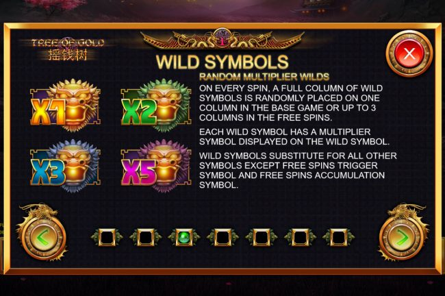 Tree of Gold :: Wild Symbol Rules