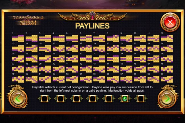 Tree of Gold :: Paylines 1-60