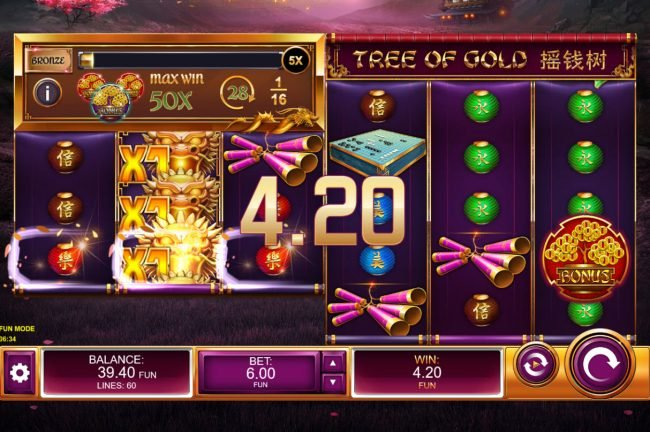 Tree of Gold :: Multiple winning paylines