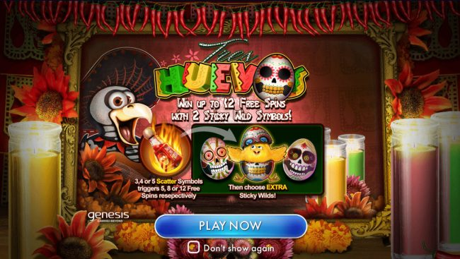 Chanz featuring the Video Slots Tres Huevos with a maximum payout of $75,000