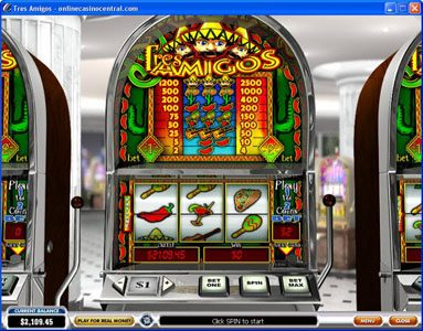 Magic Red featuring the Video Slots Tres Amigos with a maximum payout of $25,000