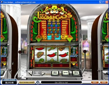 Omni featuring the Video Slots Tres Amigos with a maximum payout of $25,000